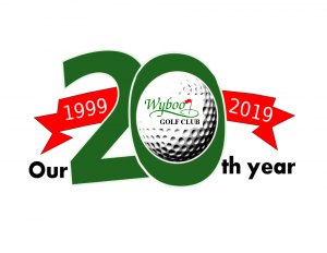 Logo for 20th Anniversary of Wyboo Golf Club